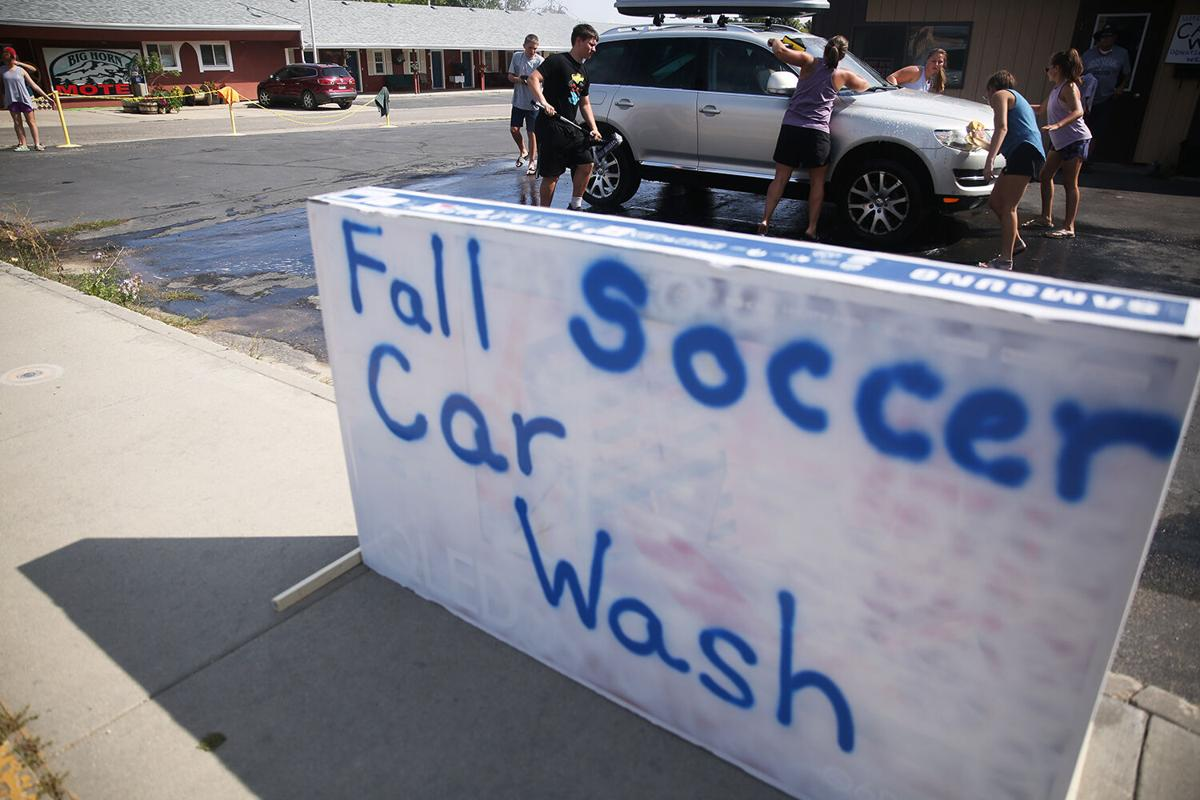 The Buffalo Blast hosted a carwash fundraiser on Saturday