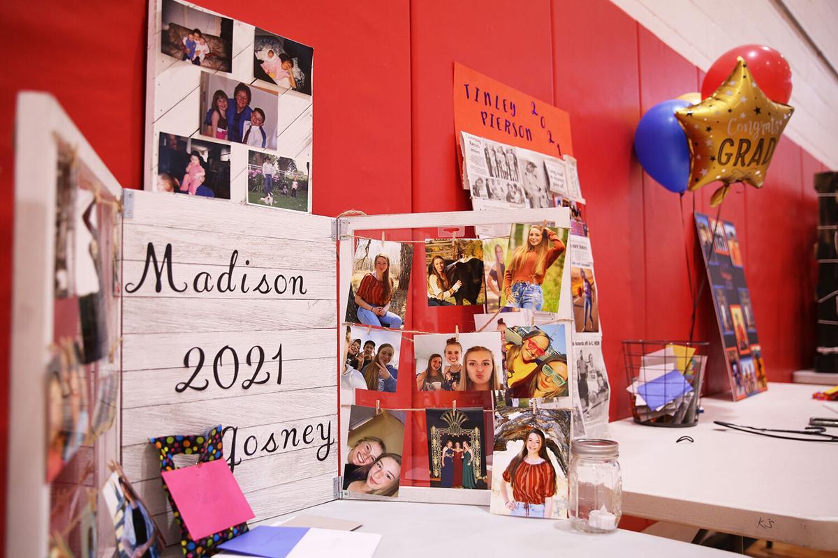 Each graduating senior got a space to put out photos