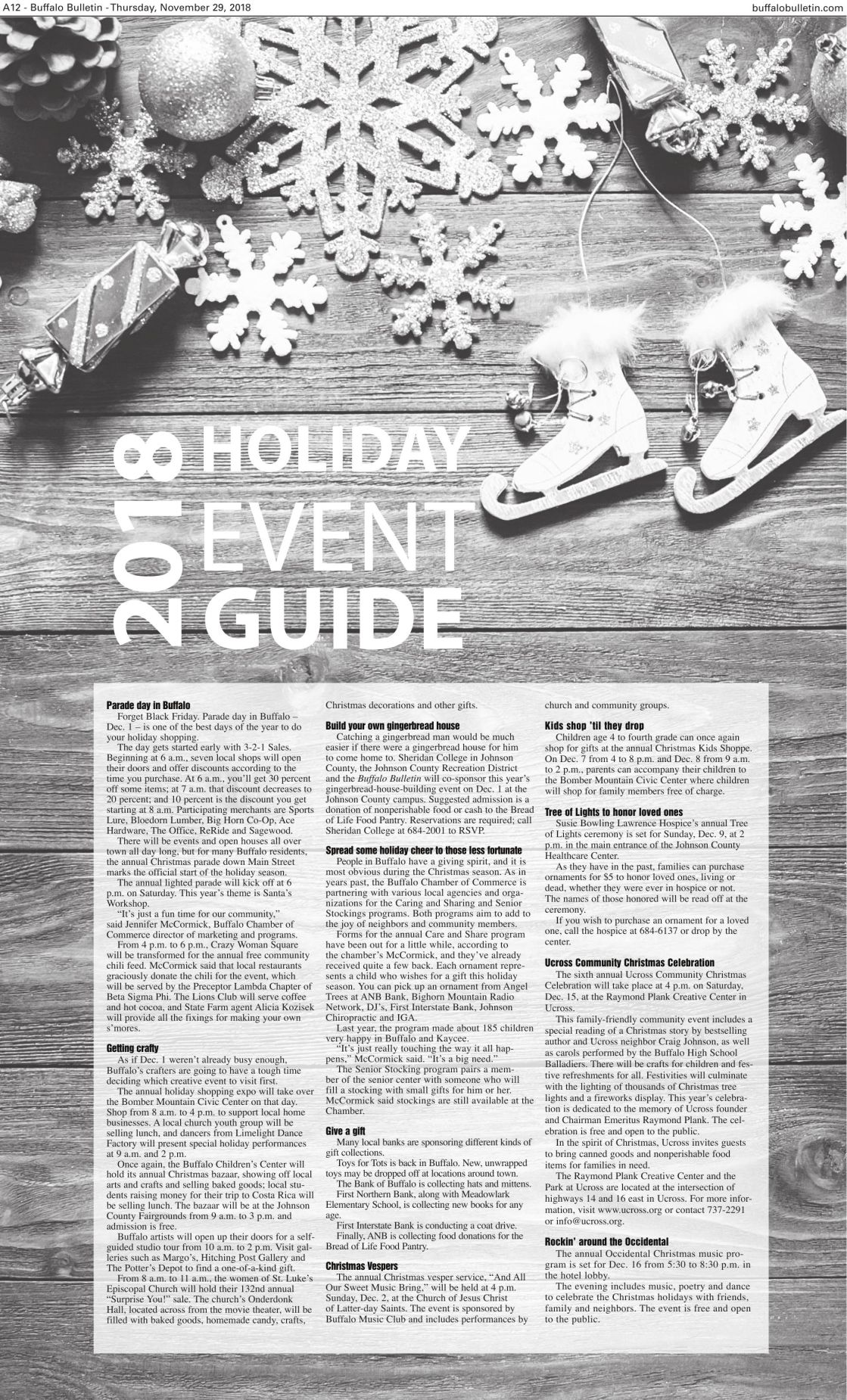 2018 Holiday Events Guide