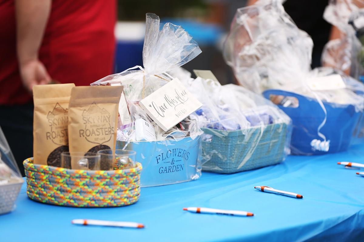 A silent auction was one of the many fundraiser events held