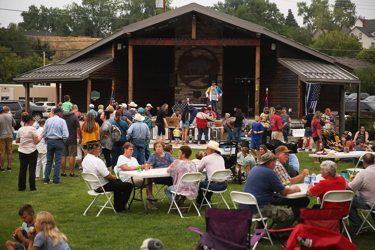 The BBQ for Blues picnic and event was held in Crazy Woman Square
