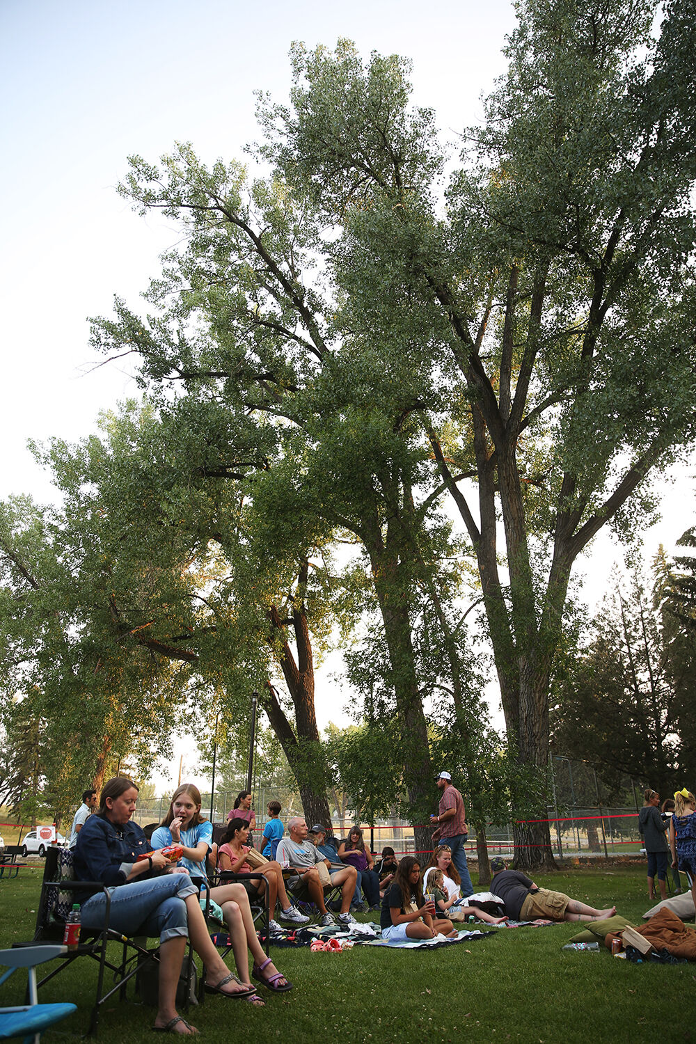 The Chamber of Commerce hosted a movie in the park
