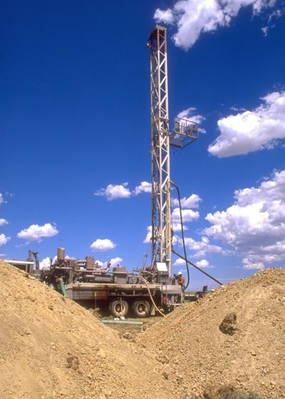 Methane drill site