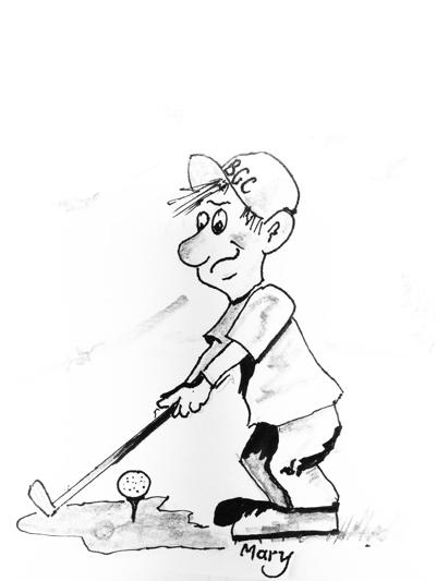 Sven golfing