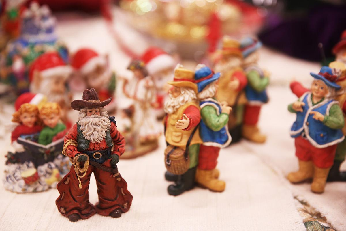 Christmas themed items at the sale ranged everywhere from books to village houses