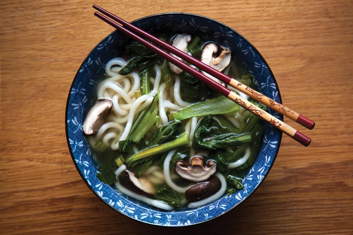 Gin Gin's mushroom vegetable noodle soup