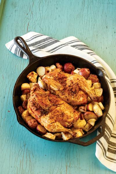 Chefs' Sunday chicken dinner, three ways