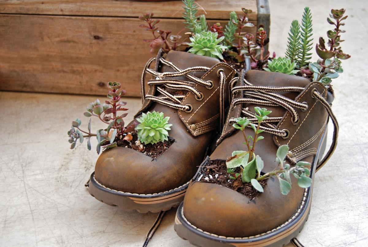 Boot garden containers