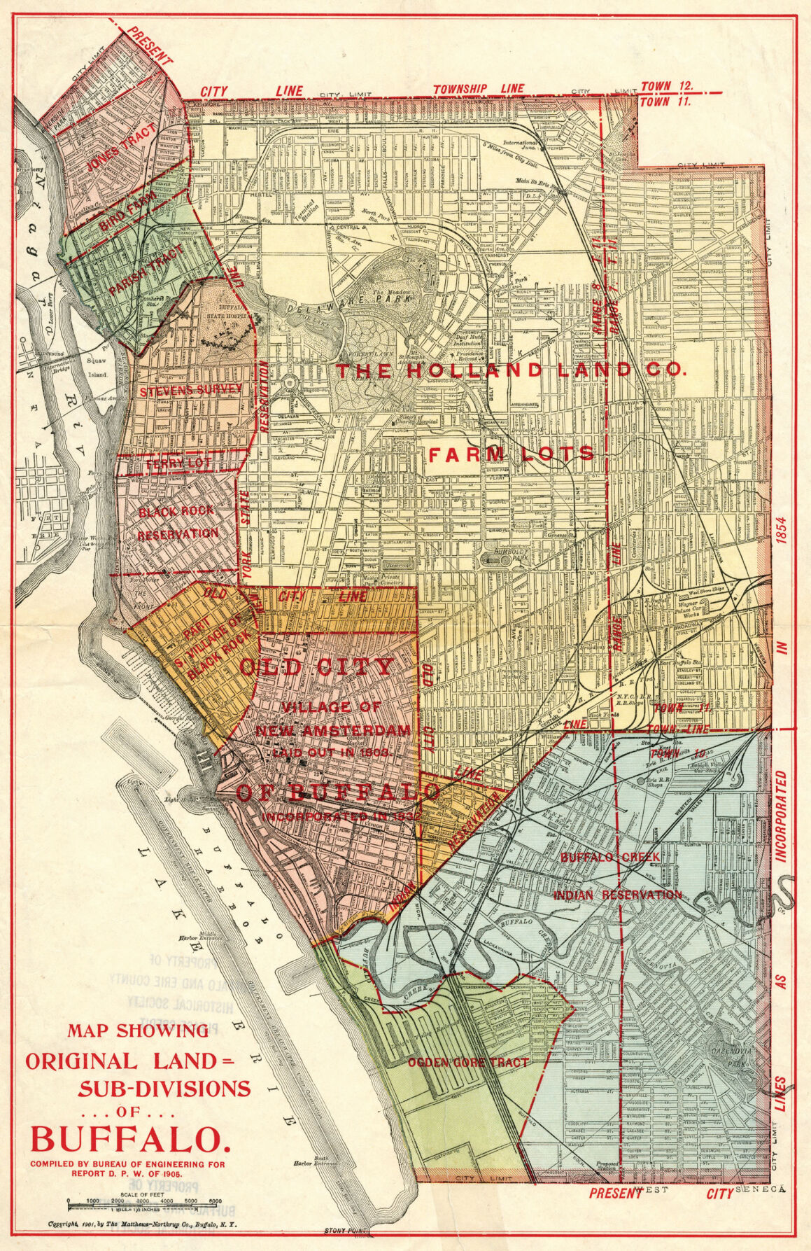 Original Land Subdivisions of Buffalo