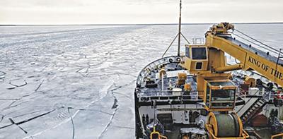 USCG Cutter Alder installing navigation aids