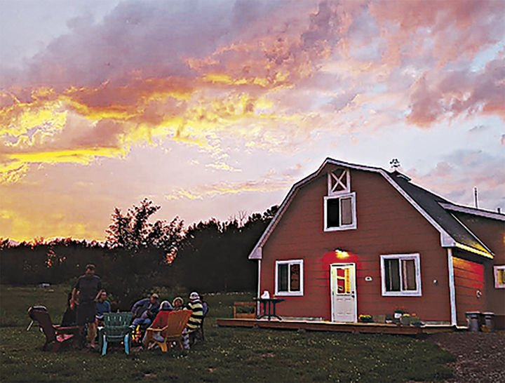 Couple makes hay with barn-turned-hostel