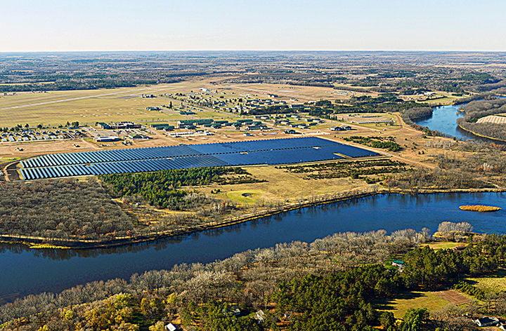 Minnesota Power, Minnesota National Guard cut ribbon on Camp Ripley solar array