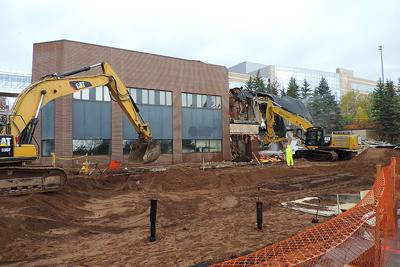 Commercial structures demolished to accommodate new Essentia Health tower