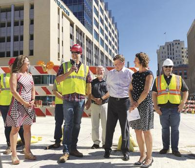 Officials celebrate first Superior Street milestone