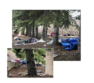 Concerns raised about downtown homeless encampment