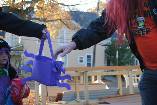 Trick-or-treaters enjoy Halloween in Cadillac