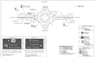 Cadillac council approves contract for roundabout construction at Division, Crosby