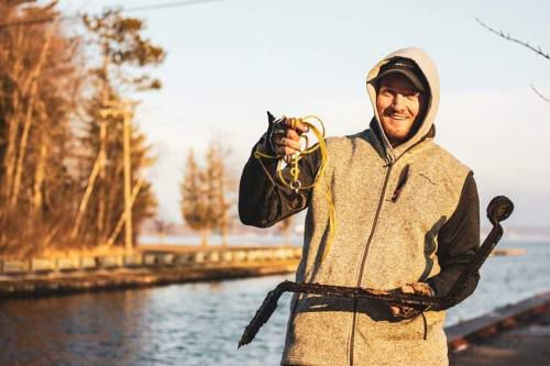 Local angler tries magnetic fishing for first time on Cadillac canal