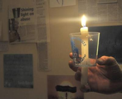 Lighting a candle against abuse
