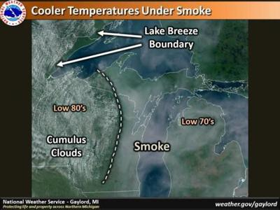 Look up: that's not clouds, it's smoke from Canadian wildfires