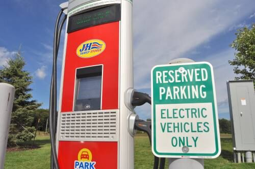 Cadillac area adds third electric vehicle charging station