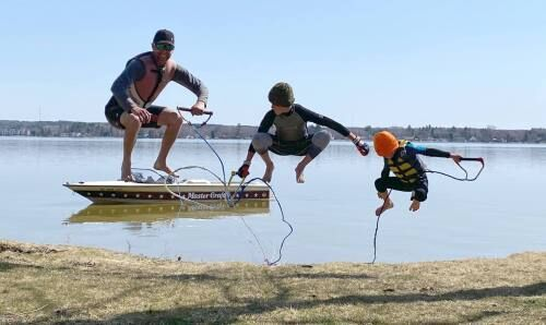 Shanklands water ski Lake Cadillac in annual spring tradition