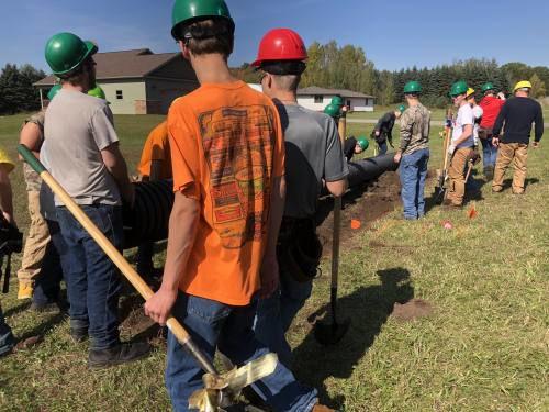 CTC crew builds house
