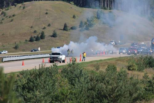 Truck 'burnt to the ground' on U.S. 131 near Manton