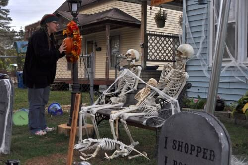 Halloween lovers getting their homes ready for the big day