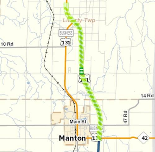 US Near Manton To Have Work Done Starting Monday News - Us 131 map