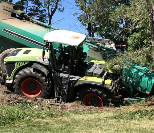Tractor driver ticketed for going too fast after crash in Missaukee County
