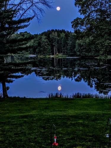 Lake Miramichi in the moonlight