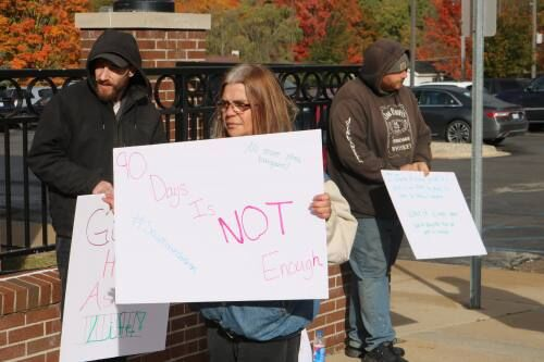 Residents protested pleas, laws associated with testimony in CSC cases