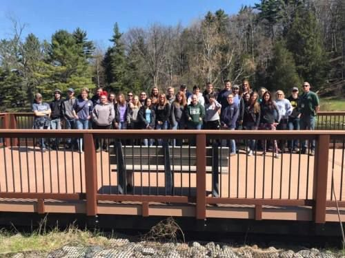 Wexford-Missaukee FFA students release Chinook Salmon