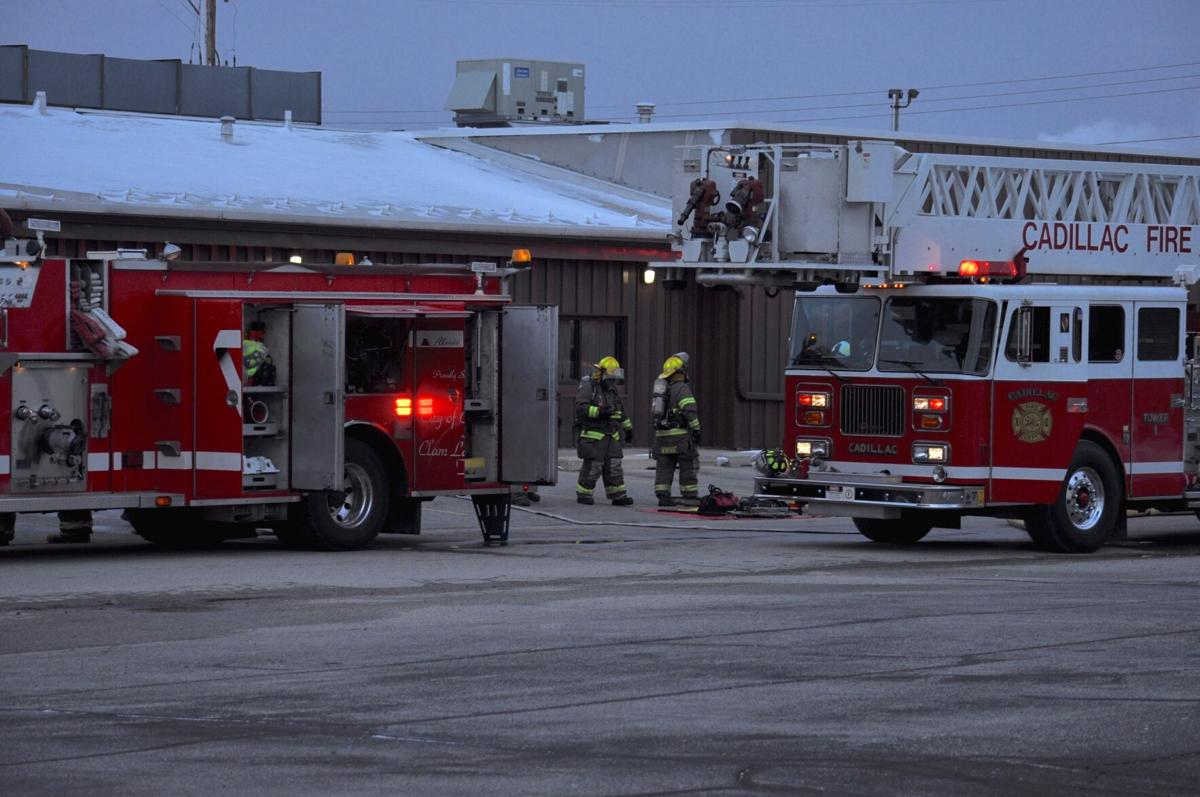 Fire crews respond to Hutchinson in Cadillac industrial park on reports of explosion