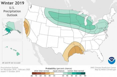 NOAA predicts 'large swings' in temps, precipitation this winter