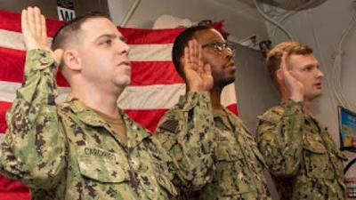 Reed City native reenlists in US Navy