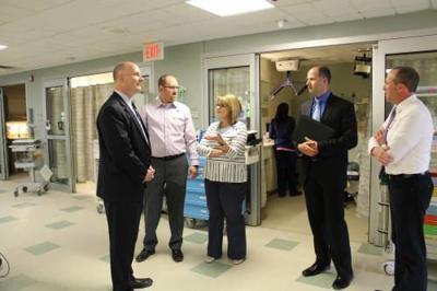 Congressman John Moolenaar visits Munson Hospital