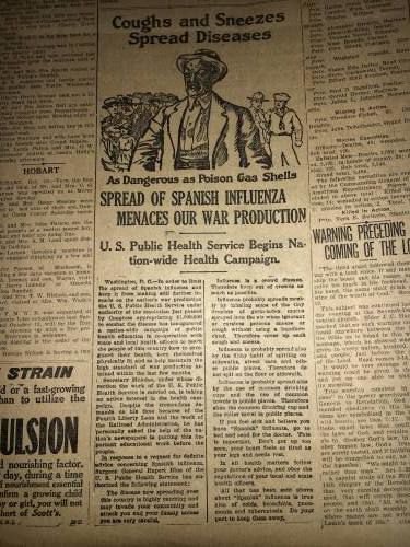 Let's hope COVID-19 doesn't have the same impact as the 1918 Spanish flu
