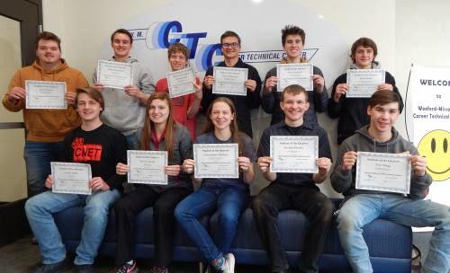 Wexford-Missaukee Career Technical Center students of the 1st quarter