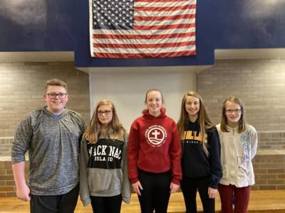 Cadillac Junior High students of the month for January