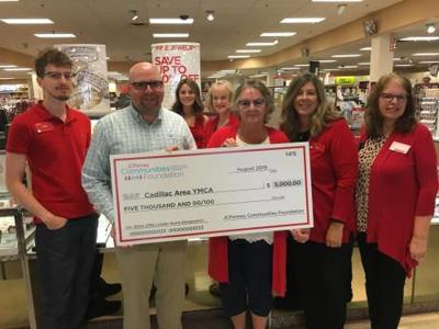Biz brief - JCPenney donates $5,000 to Cadillac Area YMCA