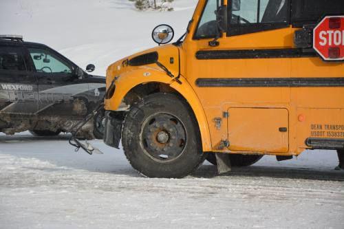 Crash involving CAPS bus sends one to hospital