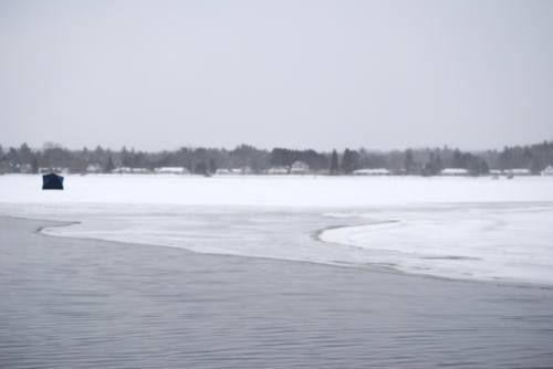 Lake ice thickness still marginal after warm spells