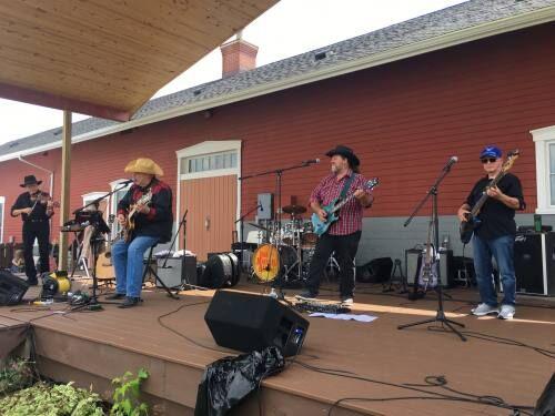Marshall Band entertains at Depot
