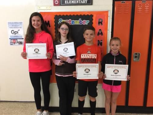 Manton Middle School students of the month