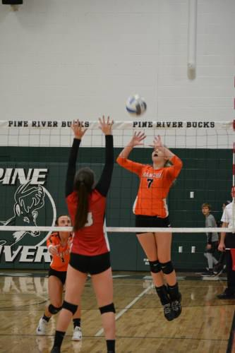 Manton outlasts Lake City for D3 volleyball district title