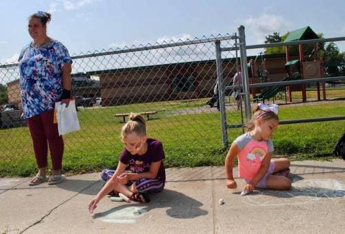 CAPS summer block party includes rainbows, chalk