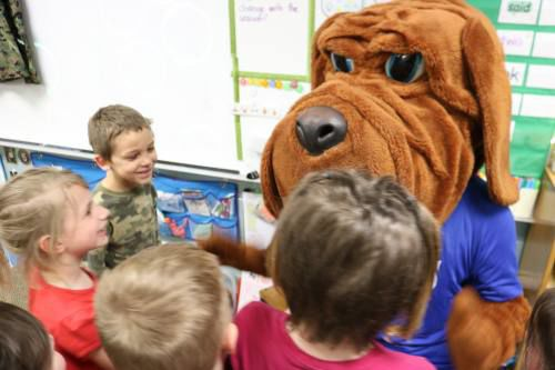Rover Goes To Career Day At Pine River Area Elementary News