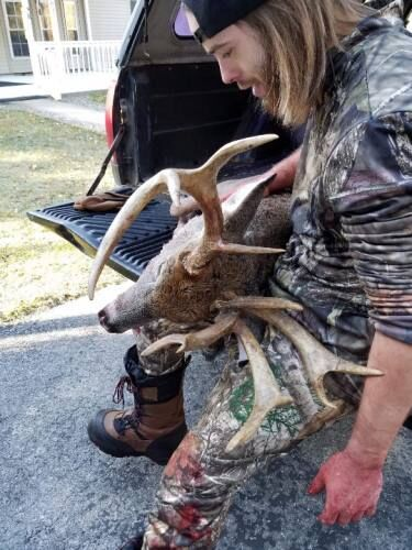 Grand Haven man bags record-book size whitetail deer near LeRoy